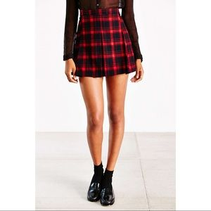 Urban Outfitters ecoté red and black plaid skirt